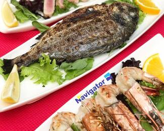 «Морепродукты намангале» в кафе-баре Navigator